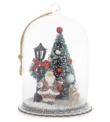 HANGING ORNAMENT Christmas scene glass dome ornament 13cm