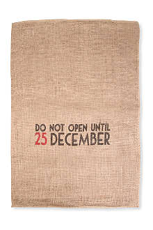 CHRISTMAS Hessian 'Do Not Open' sack