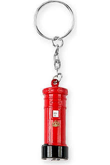 CHRISTMAS London metal post box key ring