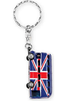 CHRISTMAS Union Jack bus key ring