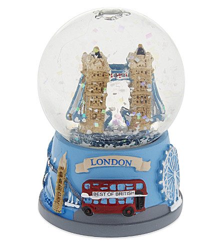 ELGATE Tower Bridge collage-base snow globe 4.5cm