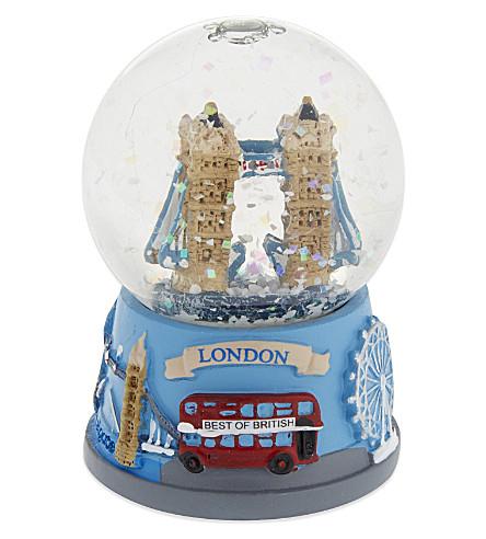 ELGATE Tower Bridge collage-base snow globe 4.5cm