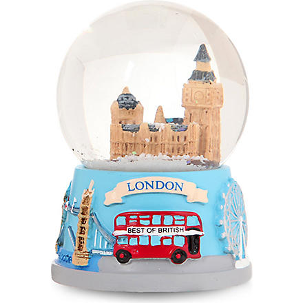 CHRISTMAS Parliament collage-base snow globe 4.5cm
