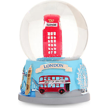 CHRISTMAS Telephone box snow globe 4.5cm
