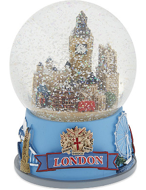 ELGATE London Christmas collage musical snow globe 10cm