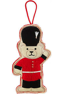 ELGATE Guardsman bear felt tree decoration