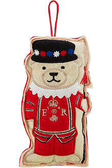 ELGATE Beefeater bear felt tree decoration