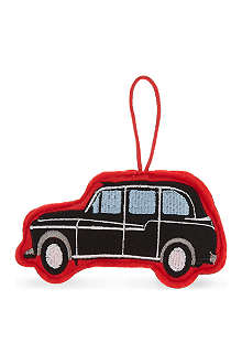 ELGATE Black cab felt tree decoration