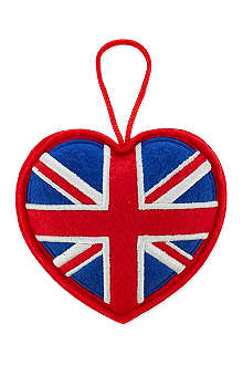 ELGATE Union Jack heart tree decoration