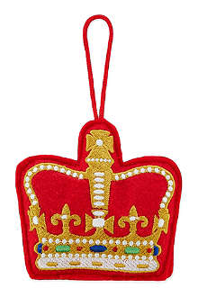 ELGATE Crown felt tree decoration