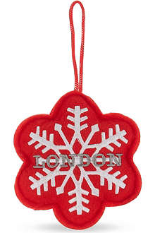 ELGATE London snowflake felt tree decoration