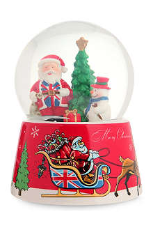 ELGATE PRODUCTS LTD Union Jack Santa snow globe 10cm