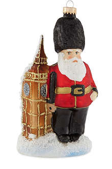 KREBS GLAS LAUSCHA Beefeater Santa tree decoration