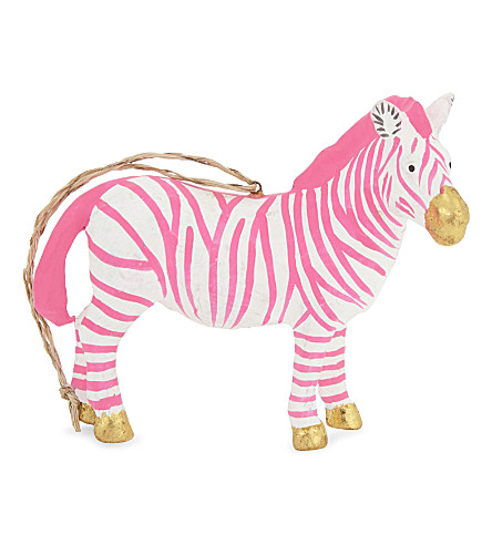 HANGING ORNAMENT Fantastical zebra hanging decoration 9cm