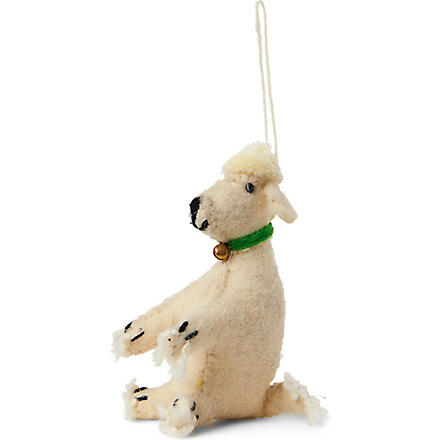 CODY FOSTER Poodle tree decoration