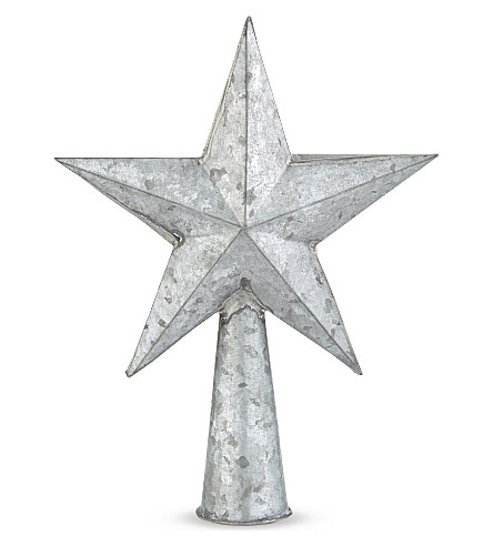 TREE TOP DECORATION Metal star tree topper