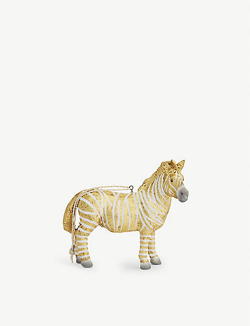 christmas fantastical zebra ornament 10cm - Christmas Zebra Decorations