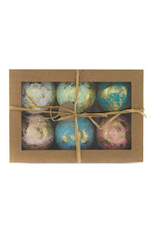CODY FOSTER Traditional golden hue tree ornaments 6-pack