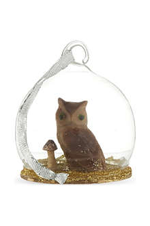 CODY FOSTER Mini owl globe bauble 6cm