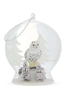 CODY FOSTER Owl globe Christmas ornament