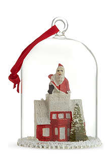CODY FOSTER Santa on roof globe ornament 12cm
