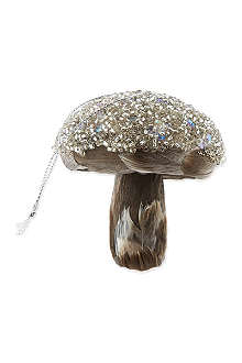 MIDWEST Feather mushroom ornament