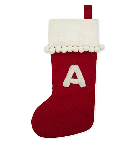 STOCKINGS 'A' medium felt stocking