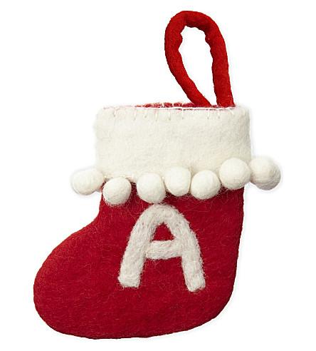 STOCKINGS 'A' mini felt stocking