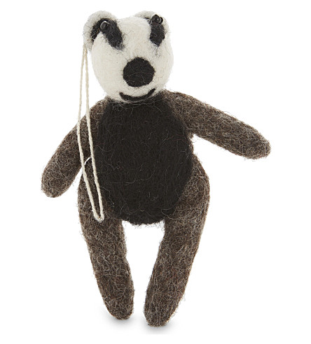 HANGING ORNAMENT Badger felt tree decoration 13cm