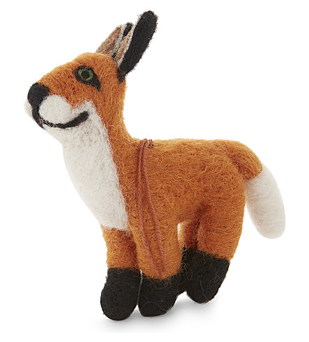 HANGING ORNAMENT Big fox felt tree decoration 12cm