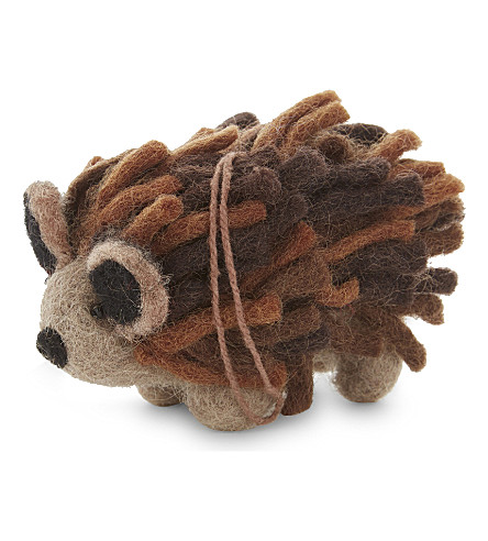 HANGING ORNAMENT Wool hedgehog decoration