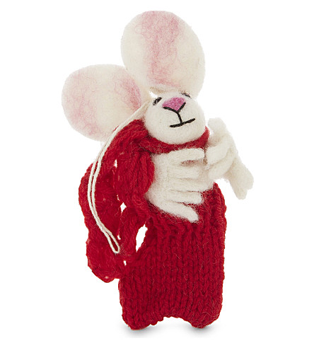 HANGING ORNAMENT Felt Bunny in Stocking decoration