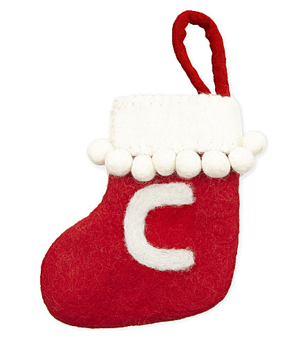 STOCKINGS 'C' mini felt stocking
