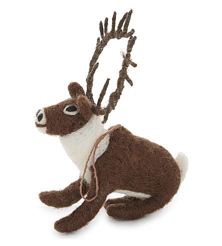 HANGING ORNAMENT Wool Elk decoration 12cm