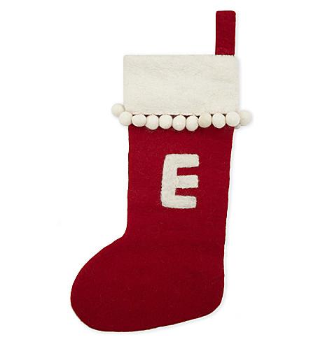 STOCKINGS 'E' medium felt stocking