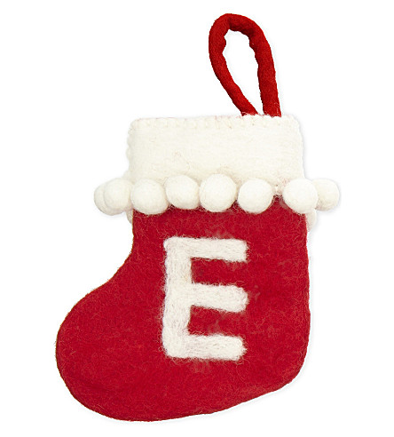 STOCKINGS 'E' mini felt stocking
