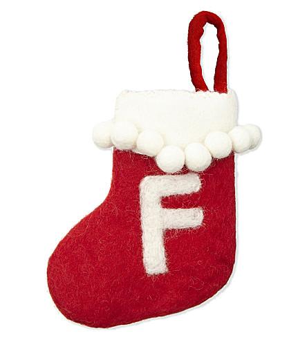 STOCKINGS 'F' mini felt stocking