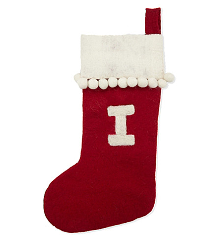 STOCKINGS 'I' medium felt stocking