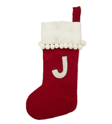 STOCKINGS 'J' medium felt stocking