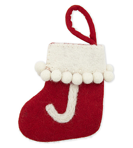 STOCKINGS 'J' mini felt stocking