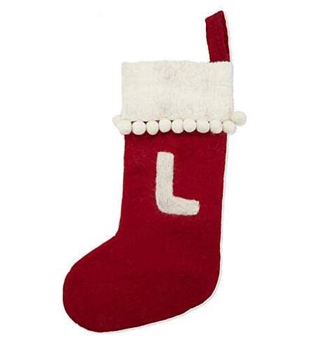 STOCKINGS 'L' medium felt stocking