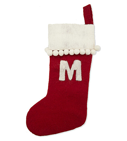STOCKINGS 'M' medium felt stocking