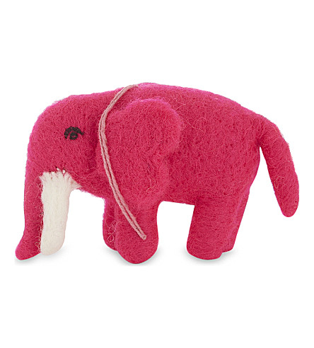 HANGING ORNAMENT Wool Elephant decoration