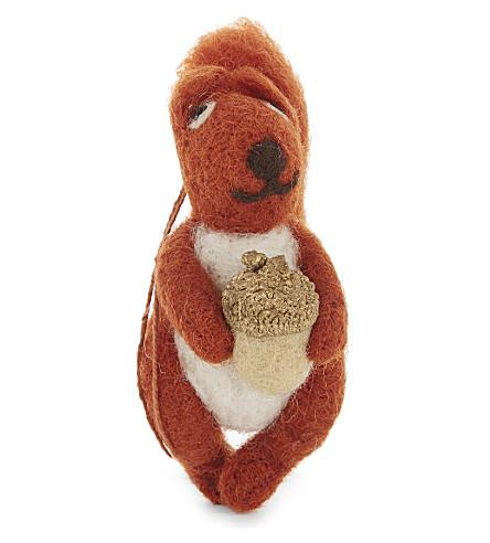 HANGING ORNAMENT Red squirrel decoration 12cm