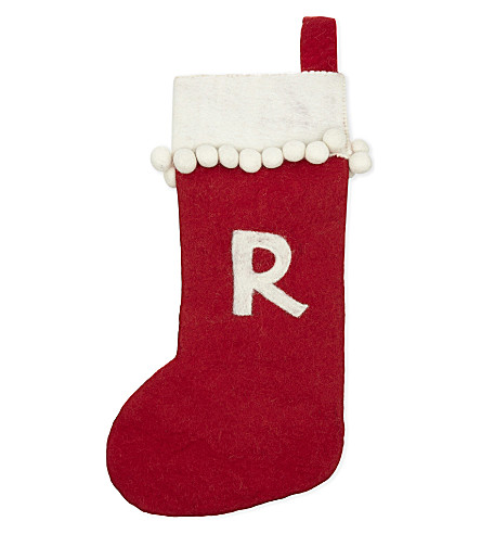 STOCKINGS 'R' medium felt stocking