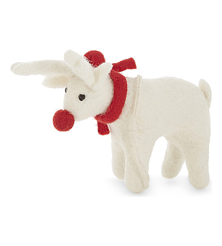 HANGING ORNAMENT Rudolf the Red-nosed Reindeer decoration 9cm