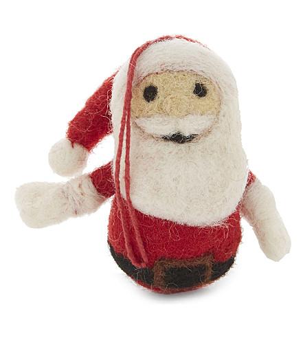 HANGING ORNAMENT Small Santa hanging decoration 7.5cm