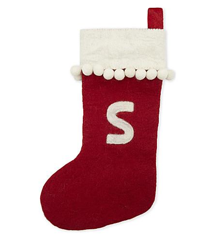 STOCKINGS 'S' medium felt stocking