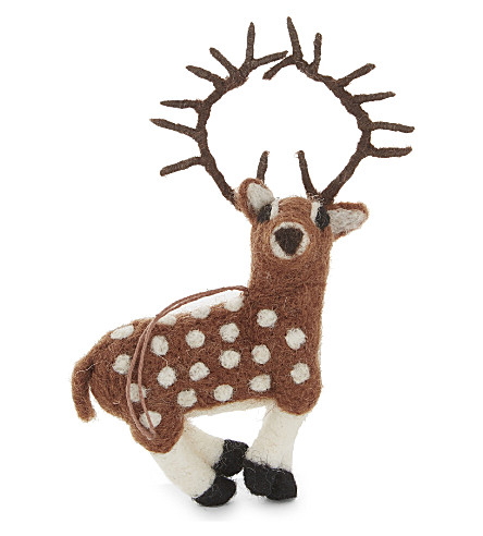 HANGING ORNAMENT Stag decoration 17cm