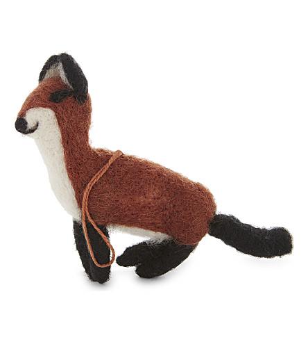 HANGING ORNAMENT Felt Stealth Fox decoration